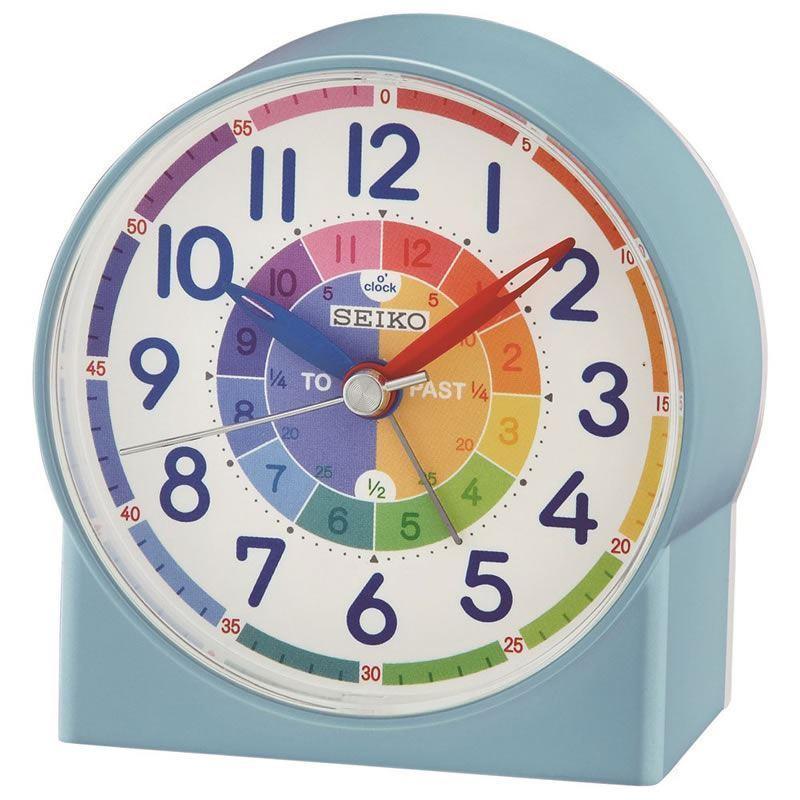 Seiko Childrens Time Teaching Alarm Clock - Blue