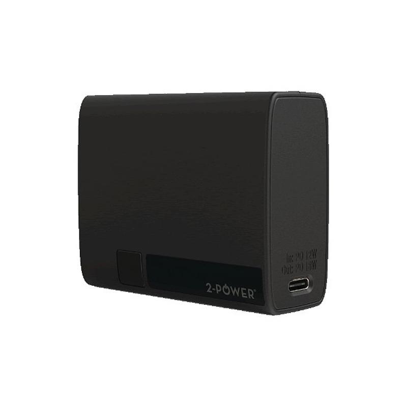 2-Power 2.1A NanoWave 5 10000mAh USB-A & C Power Bank - Black