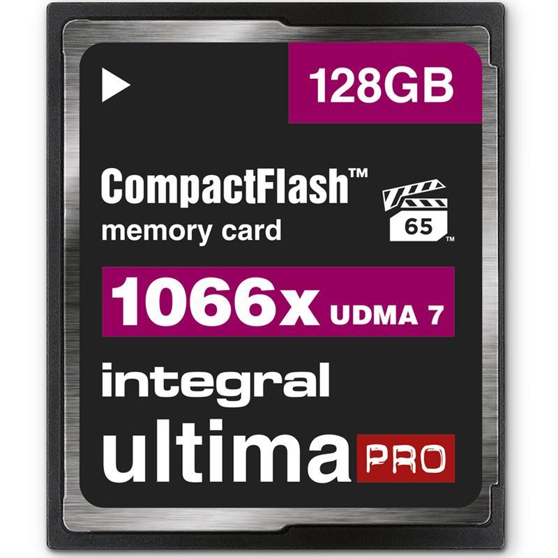 Integral 128GB 1066X Ultima PRO Compact Flash Card - 160MB/s