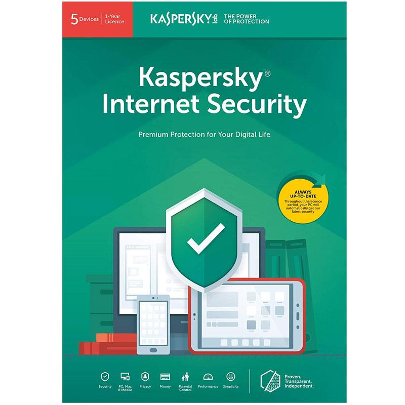 Kaspersky Internet Security 2019 (5 Devices, 1 Year)