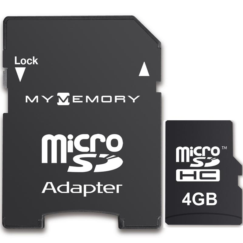 MyMemory 4GB Micro SD Card (SDHC) + Adapter
