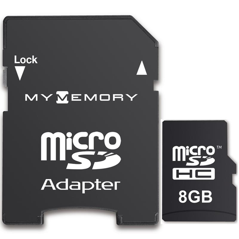 MyMemory 8GB Micro SD Card (SDHC) + Adapter
