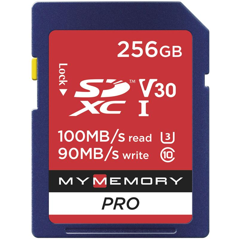 MyMemory 256GB V30 PRO High Speed SD Card (SDXC) UHS-1 U3 - 100MB/s