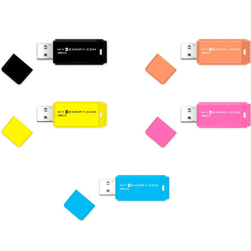 MyMemory 8GB Neon USB 2.0 Flash Drives - 5 Pack