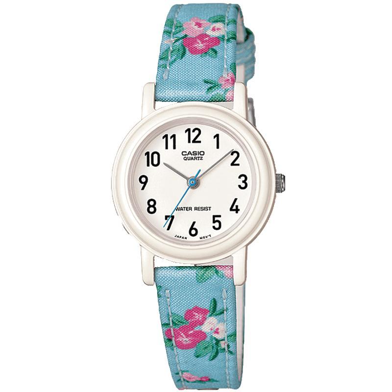 Casio Children's Quartz Watch with Multicolour Floral Strap