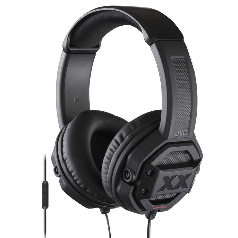 JVC Xtreme Xplosives On Ear Headphones with Remote & Mic - Black