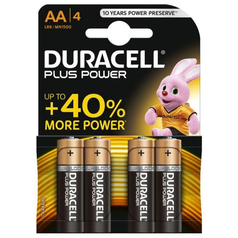 Duracell  Plus Power Size AA - 4 Pack