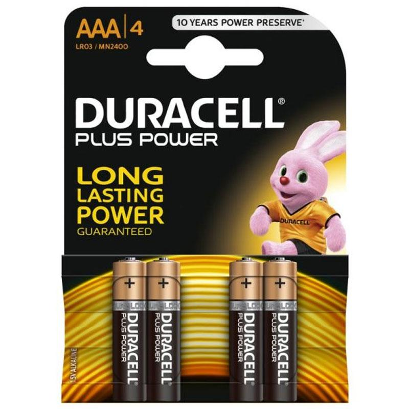 Duracell Plus Power Size AAA - 4 Pack