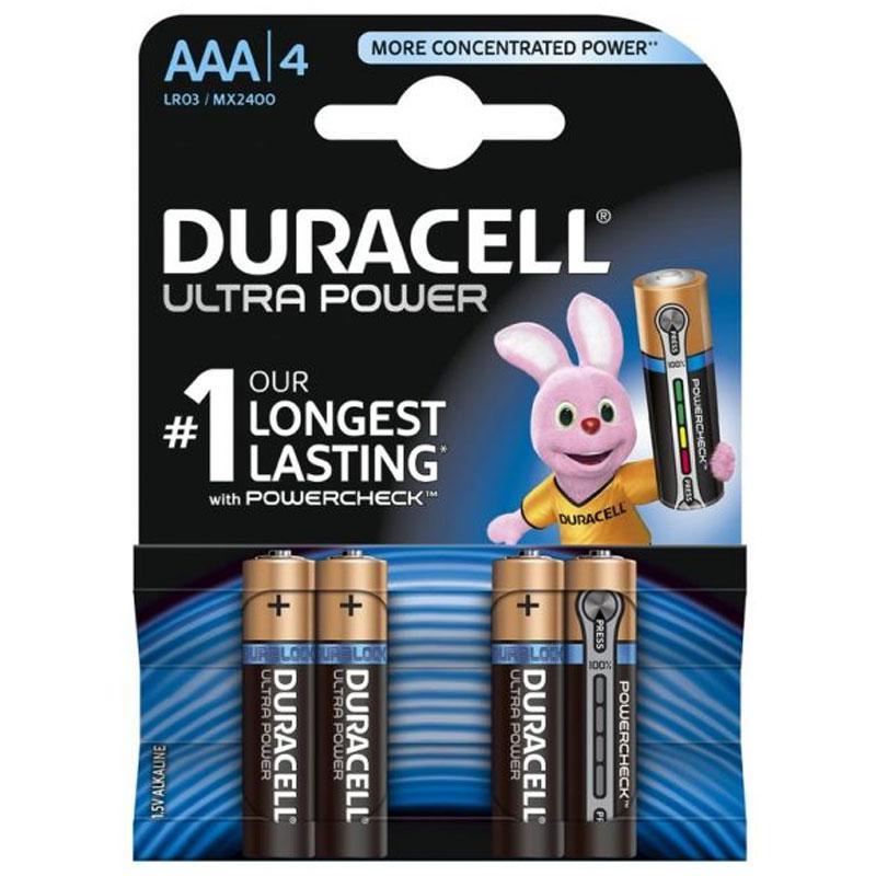 Duracell Ultra Power AAA Batteries - 4 Pack
