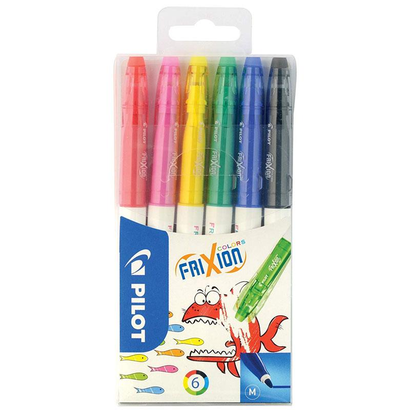 Pilot FriXion Colouring Pens Assorted - 6 Pack