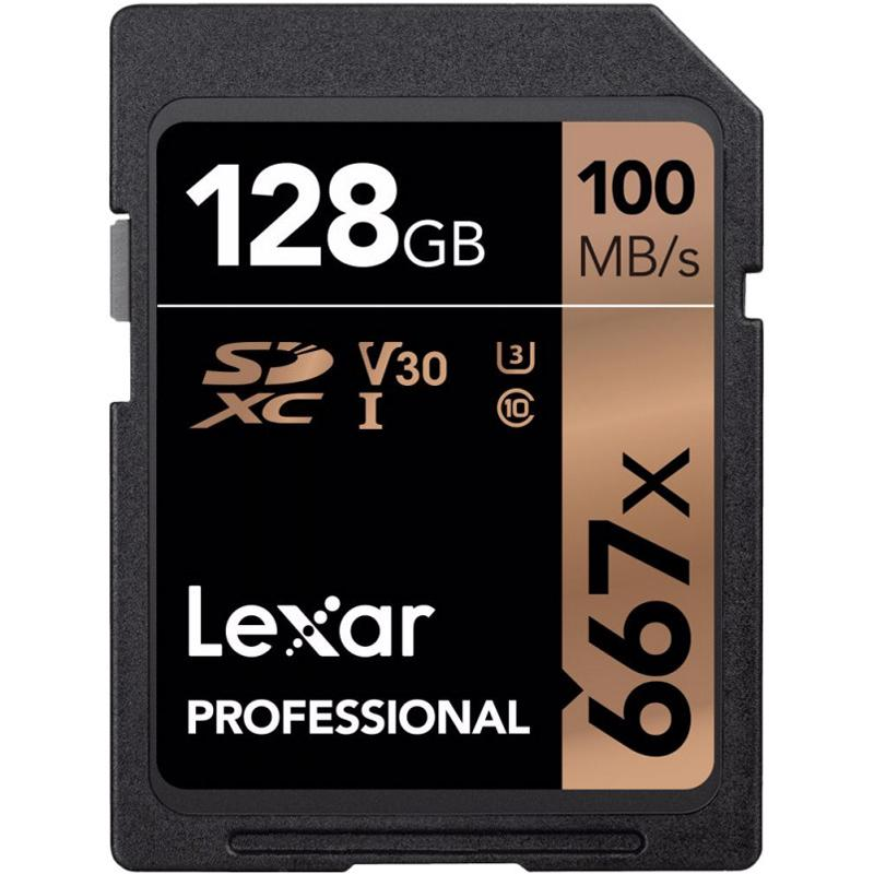 Lexar 128GB Professional SD Card (SDXC) UHS-I U3 V30 - 100MB/s