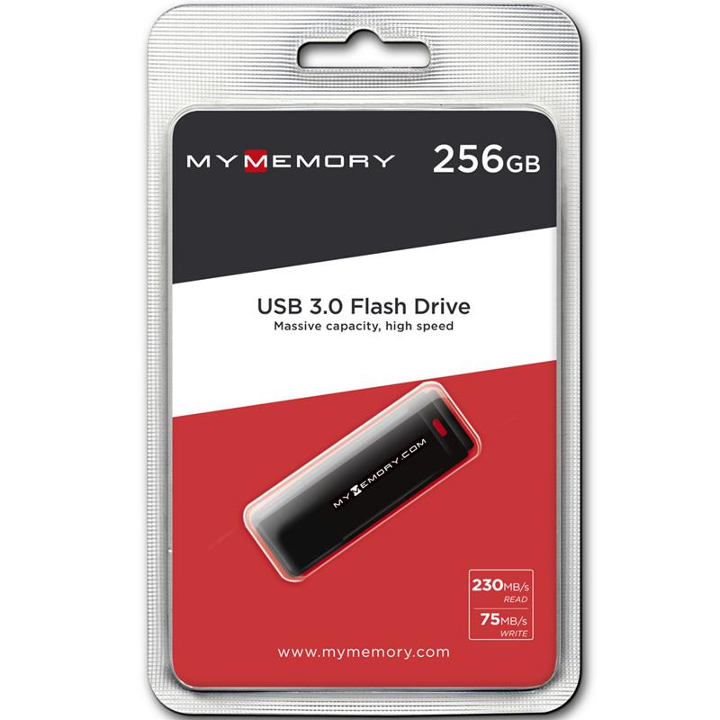 MyMemory 256GB Blaze USB 3.0 Flash Drive - 230MB/s