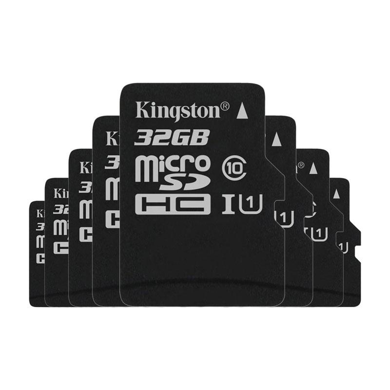 Kingston 32GB Canvas Select micro SD Card (SDHC) + SD Adapter - 80MB/s - 8 Pack