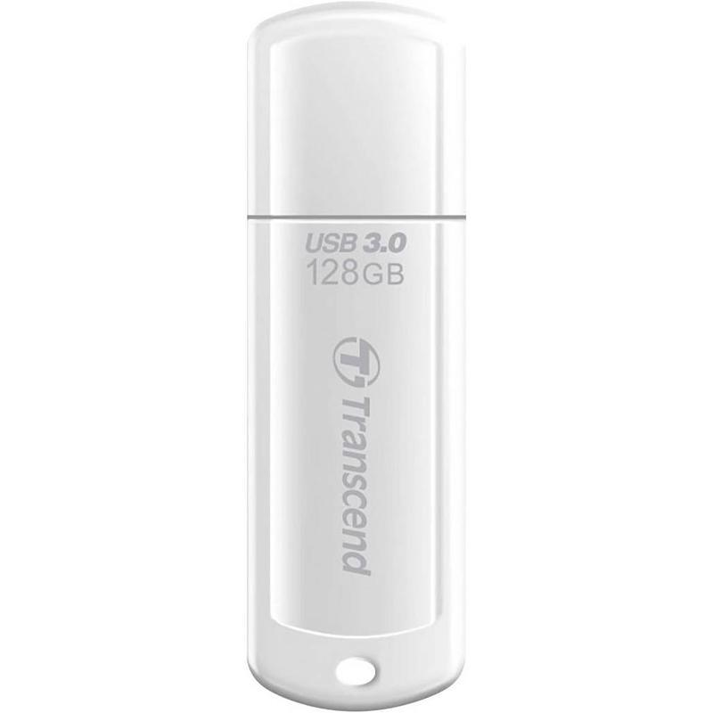Transcend 128GB JetFlash 730 USB 3.0 Flash Drive (White) - 90MB/s