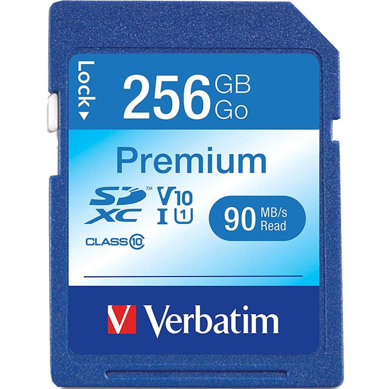 Verbatim 256GB Premium SD Card (SDXC) UHS-I U1 - 90MB/s