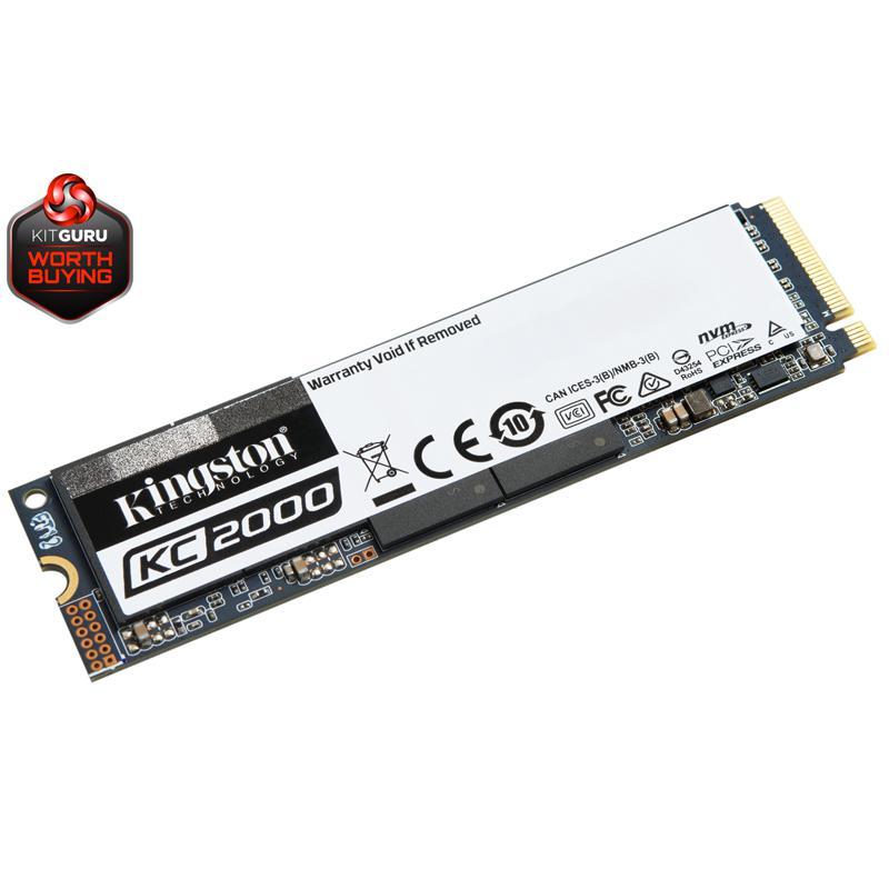 Kingston KC2000 1TB 3D M.2 (2280) PCIe 3.0 (x4) NVMe SATA SSD - 3200MB/s