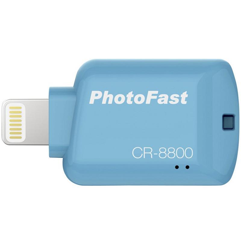 PhotoFast 4K USB 3.1 Apple Lightning to Micro SD Card Reader - Blue