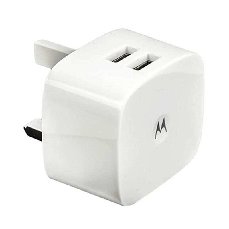 Motorola 1.5A Dual USB Mains Adapter (SPN5799A) - White