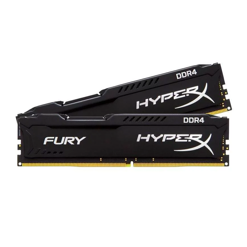 HyperX FURY Black 16GB (2x8GB) Memory Kit PC4-27700 3466MHz DDR4 CL19 288-Pin DIMM 1.2V