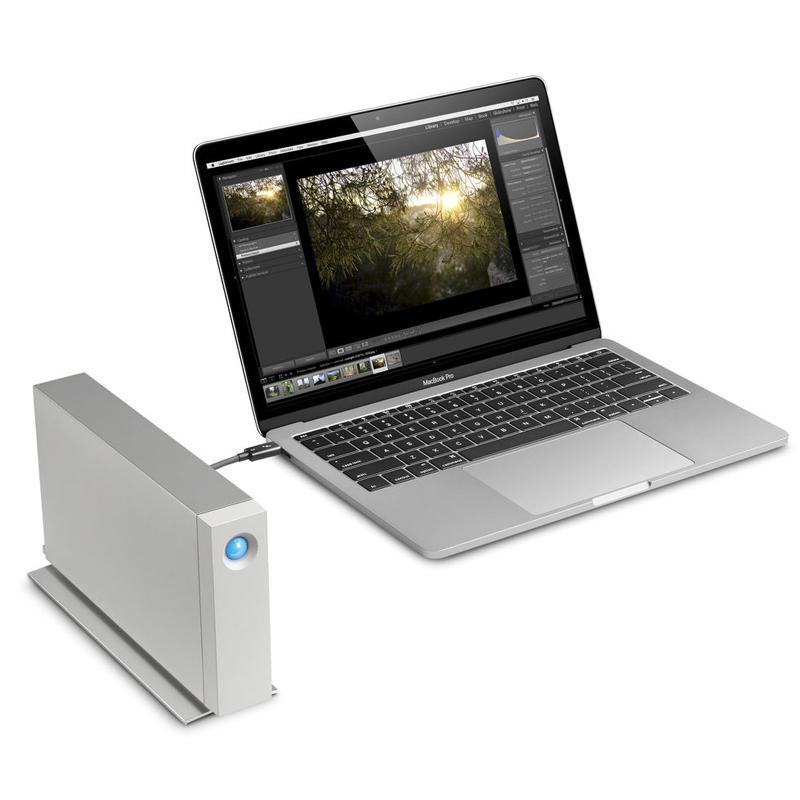 LaCie 10TB D2 Professional USB-C Hard Disk Drive - Silver