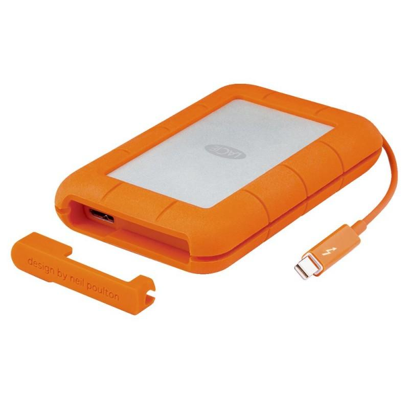 LaCie Rugged STEV1000400 (1TB) USB 3.0 130MB/s Thunderbolt Portable External Solid State Drive