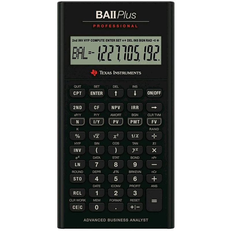 Texas Instruments BAII PLUS PROFESSIONAL Financial Calculator