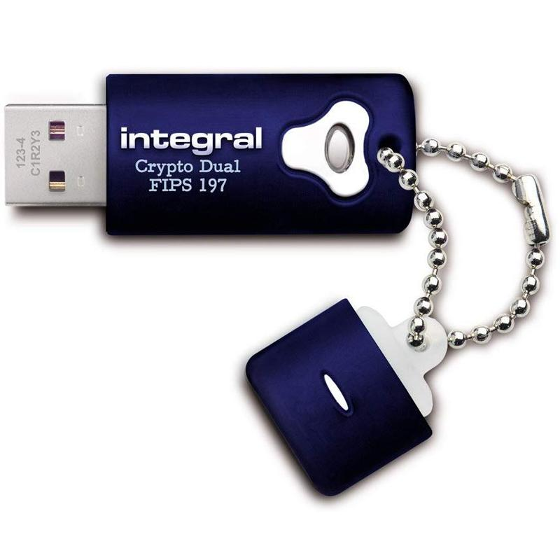 Integral 16GB Crypto Dual FIPS 197 Encrypted USB 3.0 Flash Drive - 120MB/s