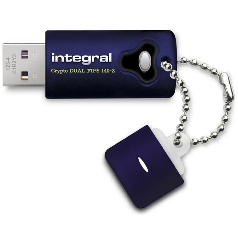 Integral 8GB Crypto Dual FIPS 140-2 Encrypted USB 3.0 Flash Drive - 140MB/s