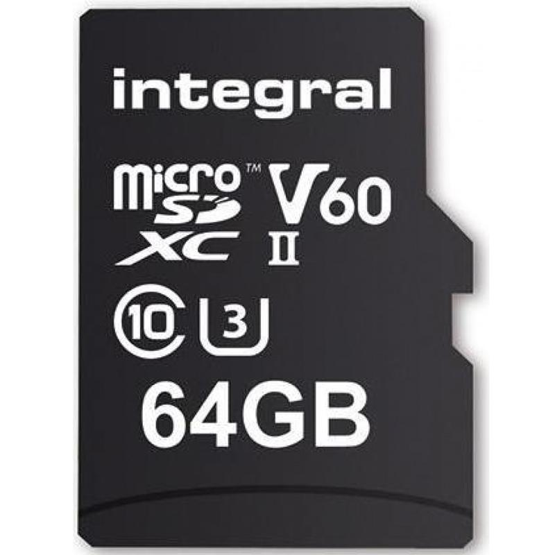Integral 64GB UltimaPro X2 Micro SD Card SDXC UHS-II U3 V60 - 280MB/s