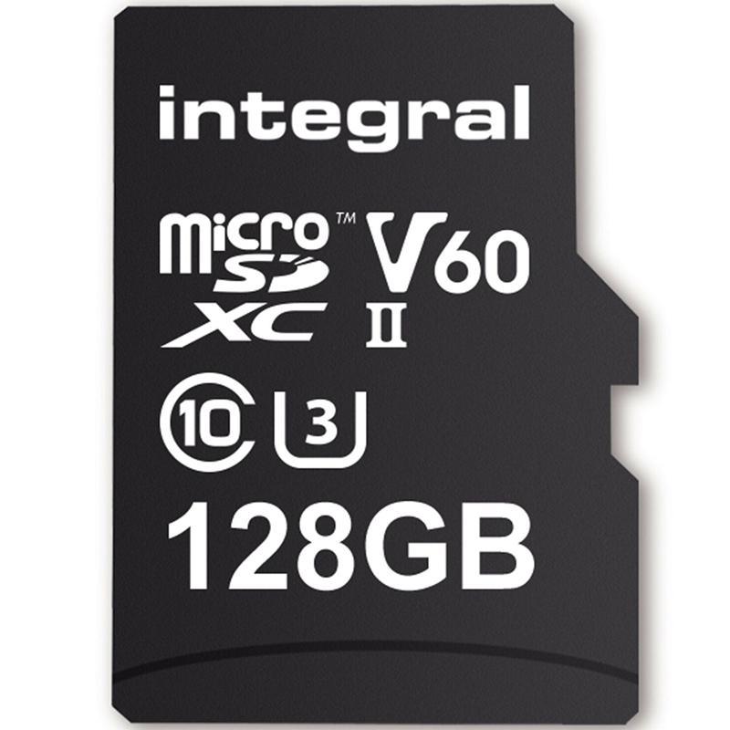 Integral 128GB UltimaPro X2 Micro SD Card SDXC UHS-II U3 V60 - 280MB/s