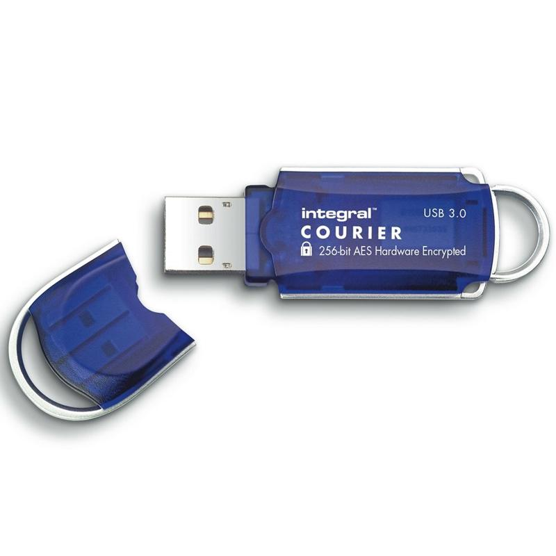 Integral 32GB Courier FIPS 197 256-Bit AES Hardware Encrypt USB 3.0 Flash Drive - 140MB/s
