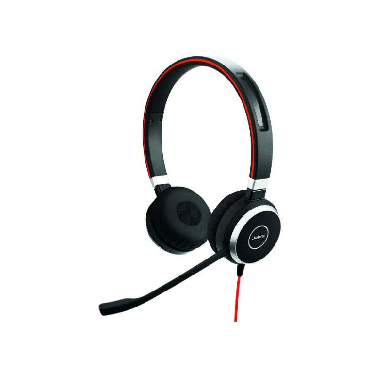 Jabra Evolve 40 MS Corded Corded Headset with Microphone for Microsoft Lync - Black
