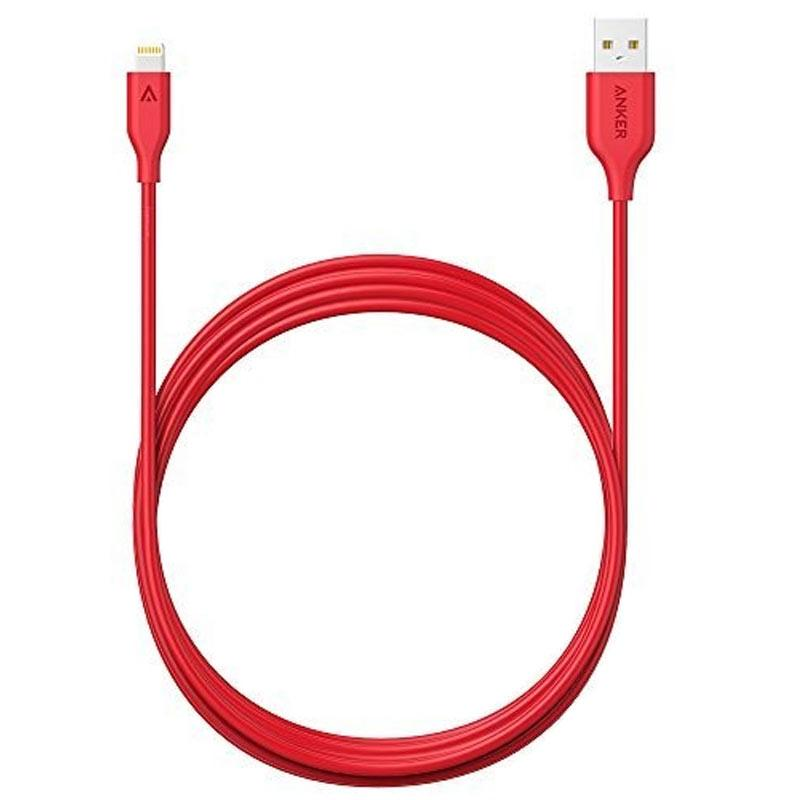Anker PowerLine+ Lightning 3ft - Red
