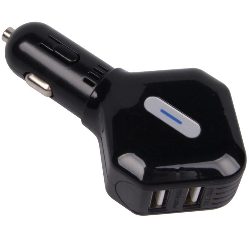 Universal 2.4A 4 Port High-Speed USB Car Charger - Black