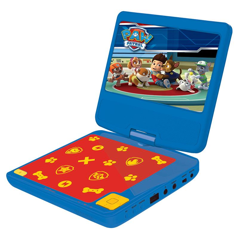 Lexibook Paw Patrol Portable DVD Player Stereo with USB Port - 7 inch LCD