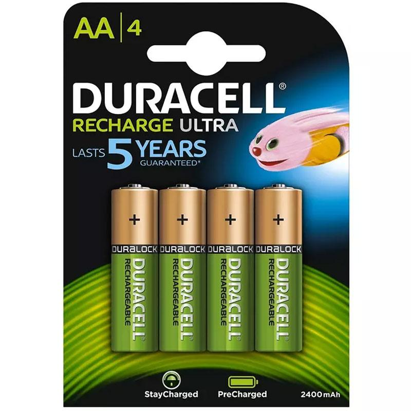 Duracell StayCharged 2400mAh AA Rechargeable Batteries - 4 Pack