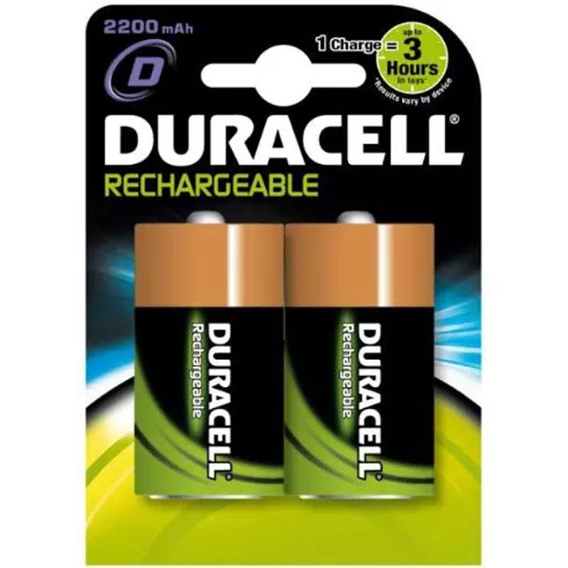 Duracell StayCharged 2200mAh D Rechargeable Batteries - 2 Pack