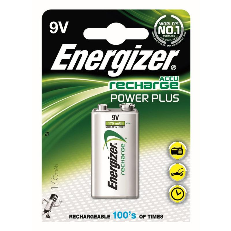 Energizer Accu 175mAh 9V Rechargeable Battery