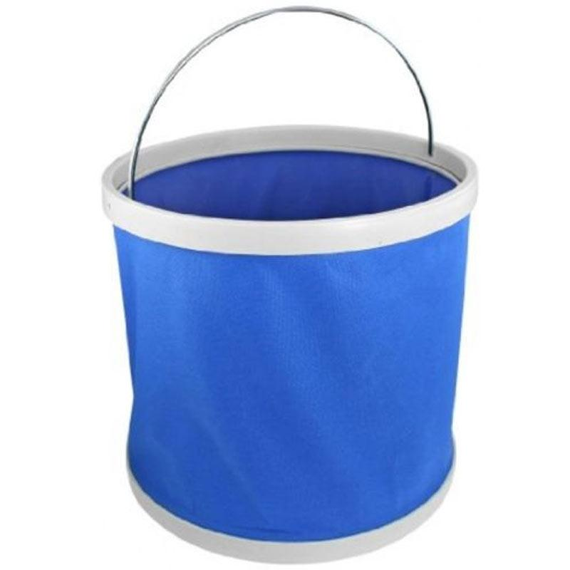 PVC Auto Car Foldable Bucket Container - Blue