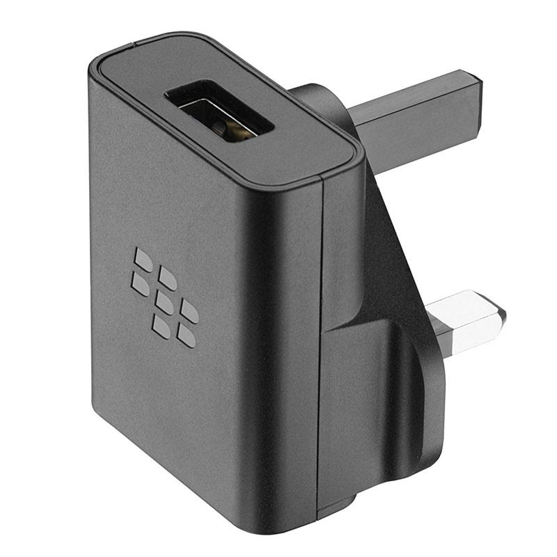 Blackberry 850mA Mains Charger + 1.2M Micro USB Data Cable - Black