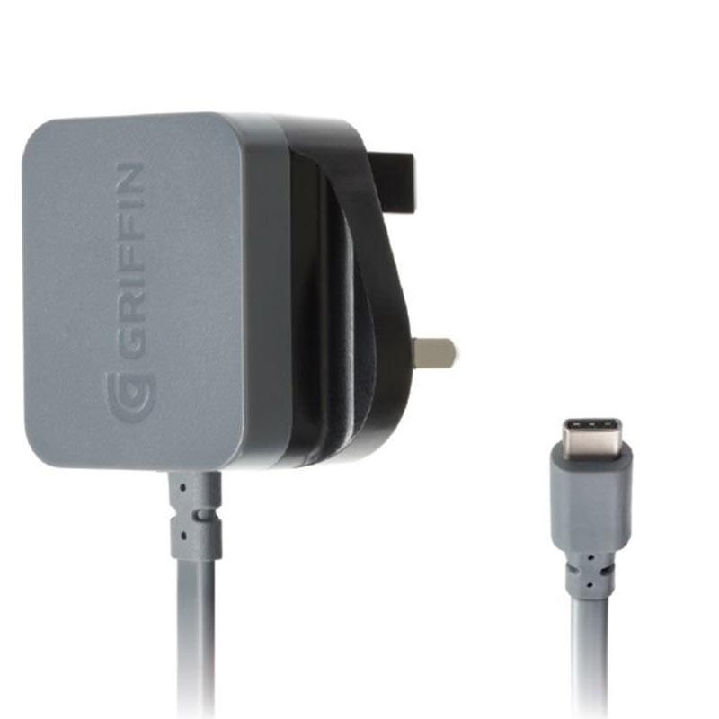 Griffin Powerblock 3A USB Type C Wall Charger - Black/Grey