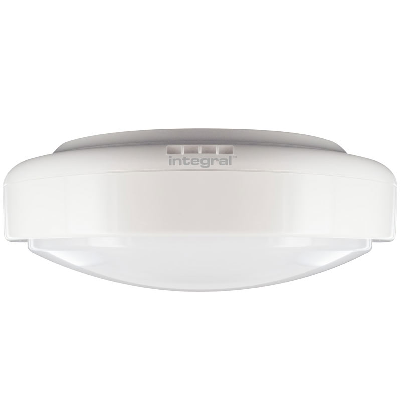 Integral Tough-Shell IK09 LED Bulkhead 12W (90W) 4000K (Cool White) Non-Dimmable Lamp