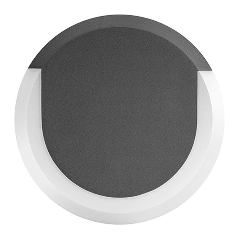Integral Outdoor Lunox LED Mini Wall Light 8W 3000K (Warm White) IP54 - Dark Grey