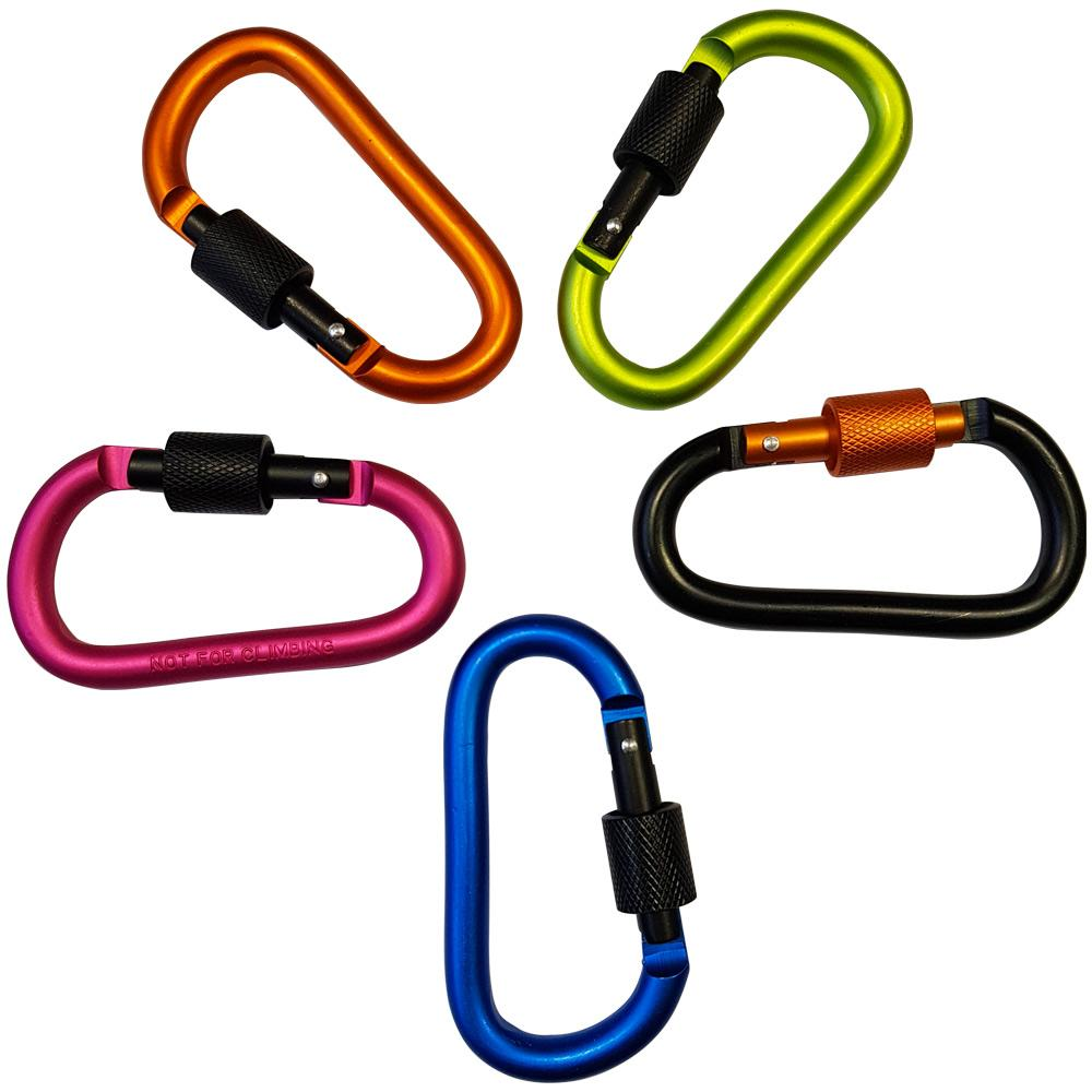 Carabiner Quick Screw Link - 5 Pack