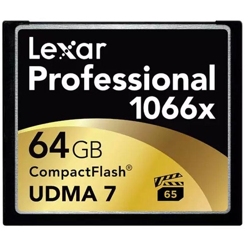 Lexar 64GB 1066X Professional Compact Flash Card - 160MB/s
