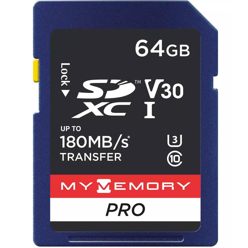 MyMemory 64GB V30 PRO SD Card (SDXC) UHS-I U3 - 180MB/s