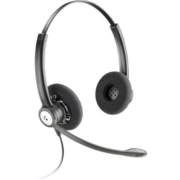Plantronics Entera HW121N-USB-M E&A Over-the Head Binaural Headset with Noise Cancelling Mic