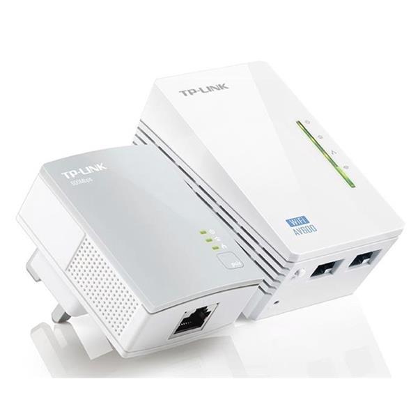 TP-Link AV600 TL-WPA4220 300Mbps Wi-Fi Powerline Extender Starter Kit (White) - V1.2