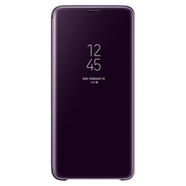 Samsung Galaxy S9+ Clear View Standing Cover - Purple