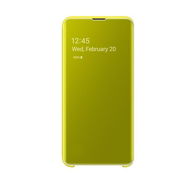 Samsung Galaxy S10e Clear View Cover - Yellow